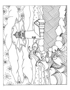 free adult coloring pages of lighthouses click on each image to download a pdf - Free Coloring Book Download