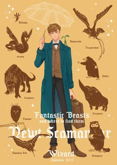 Fantastic Beasts - Newt Scamander by Iris Red