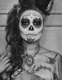 Day of the Dead makeup...very nice...