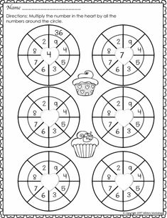 2nd grade times tables worksheets Circle times tables 2 to
