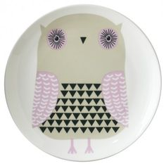 Death by cuteness a.k.a. 'Owl Plate' by Donna Wilson (would be really cute hanging on the wall in a little girls room).