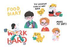 "1999 on Twitter: ""👨🌾🌿… "" Cartoon Fan, Cartoon Drawings, Cute Drawings, Bag Illustration, Character Illustration, Minimalist Icons, Kpop Fanart, Cartoon Wallpaper, Illustrations And Posters"