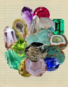 Crystal collage