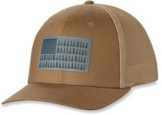 af6137e0c25 Columbia Mesh Ball Cap Delta Tree Flag L XL Cool Hats