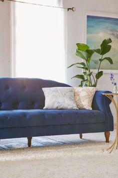 Roma Velvet Tufted Sofa - Urban Outfitters