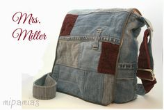 Tasche aus Jeanshose / Bag made from pair of jeans