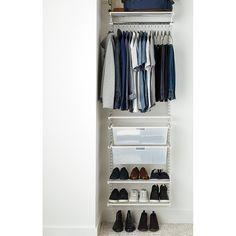 Elfa Classic 2' White Small Reach-In Closet | The Container Store
