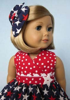 American Girl Doll Clothes Red White and by SewMyGoodnessShop