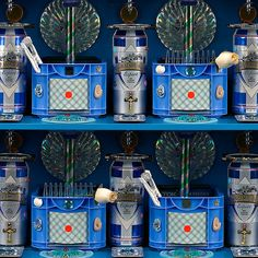 vertical pattern square blue, 2009 (detail)