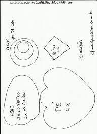 molde de coruja em feltro - Pesquisa Google