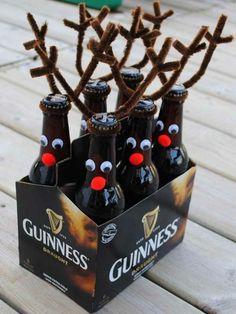 selber machen weihnachtsgeschenke bierflaschen