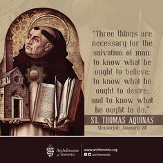 St. Thomas Aquinas #feastday #catholic #quote