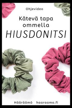 Hääräämö: Ohjevideo: Kätevä tapa ommella hiusdonitsi Diy Crafts How To Make, Diy And Crafts Sewing, Easy Sewing Projects, Easy Diy Crafts, Sewing Hacks, Sewing Tutorials, Sewing Patterns For Kids, Sewing For Kids, Diy Pouch Tutorial