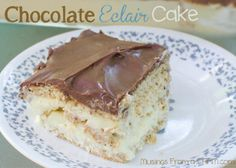 Chocolate Eclair Cake Dessert {Recipe} - Musings From a Stay At Home Mom