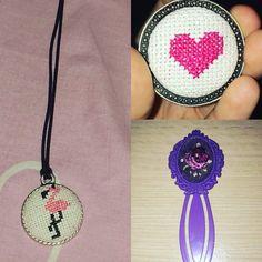 Kendi yaptıklarım#kanaviçe#kolye#flamingo#kalp#ayraç#çiçekler#harika. İnstagram:designmelda İnstagram:melda_boyraz
