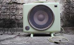... erst Heizlüfter und jetzt ein Lautsprecher mit Verstärker für Mp3-Player, Smartphone, ... an old convector ... upgecycelt ... now ... loudspeaker with amplifier for your Mp3player, smartphone …
