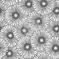 Seamless pattern with gerbera flowers