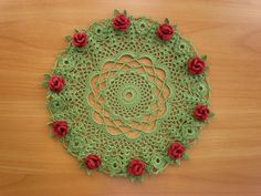 AA 873753/ Dozen and One Floral Doilies/ Rings and Roses d=20 cm DMC Babylo 10 (267m/50g) Anna 16 (530m/100g) hook 1.00mm Finished 05.2009 P9060023