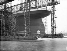 The doomed ship was built in Belfast over a three-year span and these impressive black and white images show just how colossal an undertakin...