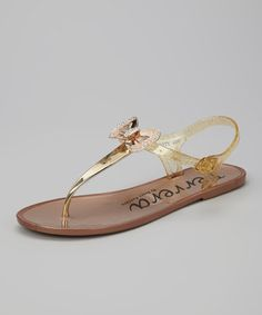 Take a look at this Bronze Shimmer Bow Fruity Jelly Sandal by Henry Ferrera on #zulily today!