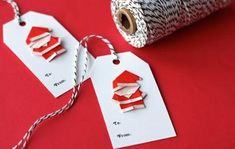 Create Extremely Cheerful DIY Origami Santa Claus For Your Decor or as Gifts Diy Origami, Cute Origami, Simple Origami, Origami Lamp, Origami Paper, Christmas Gift Tags, All Things Christmas, Xmas, Santa Christmas