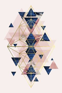 'Blush Pink and Navy Geometric Perfection' Poster by UrbanEpiphany Blush Pink and Navy Geometric design Gold Wallpaper, Wallpaper Backgrounds, Geometric Wallpaper Iphone, Geometric Designs, Geometric Shapes, Geometric Poster, Canvas Prints, Art Prints, Pretty Wallpapers