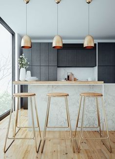 Modern matte: http://www.stylemepretty.com/living/2015/01/23/20-gorgeous-non-white-kitchens/