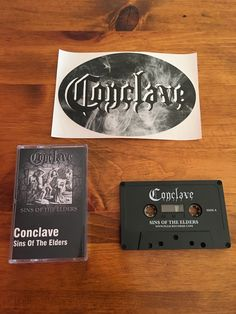 "Conclave - ""Sins of the Elders"" High-bias Dolby Pro-Logic cassette tape https://www.heavy-vinyl.com/collections/frontpage/products/conclave-sins-of-the-elders"