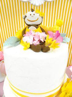 Curious Charley monkey - 1 qty monkey - Great for a monkey birthday party. $16.00, via Etsy.