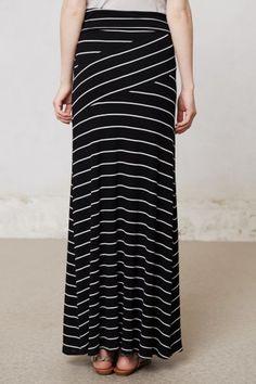 Split Stripes Maxi Skirt | Anthropologie