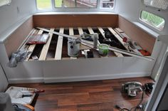 Elevated Bed Painted with Storage