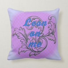This is a kind and thoughtful cushion inviting you to sit back and releax.