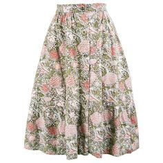 Bus Stop by Lee Bender William Morris 'Cray' Print Cotton Skirt, 1970s