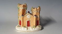 Staffordshire #vintage victorian #antique castle pastel #incense burner ornament,  View more on the LINK: http://www.zeppy.io/product/gb/2/172251810731/