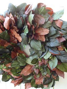Salal Wreath   Lemon Leaf   Preserved Wreath  by donnahubbard