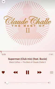 _Superman_Black Coffee feat. Bucie (Club Mix)_The Best of Claude Challe II