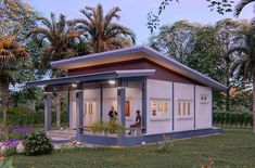House plans idea with 2 bedrooms - House Plans Sam One Floor House Plans, 2 Bedroom House Plans, Small House Plans, Bungalow House Design, Small House Design, Modern House Design, Model House Plan, One Storey House, Pallet Patio Furniture
