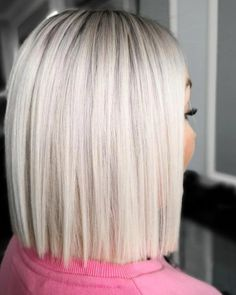 79 Beste Und Schöne Frisuren Halblang Are you looking for medium length hairstyles that can flatter Icy Blonde, Brown Blonde Hair, Short Platinum Blonde Hair, Platinum Bob, Blonde Wig, Blonde Blunt Bob, Blonde Honey, Short Blonde Bobs, Honey Balayage