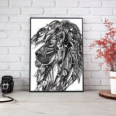 Hey, I found this really awesome Etsy listing at https://www.etsy.com/listing/574931851/leo-original-illustration-space-ink