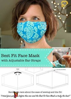 Best Fit Face Mask - Pretty Handy Girl Pretty Handy Girl shares a tutorial on the best, form-fitting and comfortable masks used for carpentry or demolition - or protection! | #prettyhandygirl #facemask #bestfacemask #diyfacemasks #adjustablestraps #adjustablefacemaskstraps<br> The Best Fit Facemask Tutorial is an easy sew mask for use by the public and medical professionals trying to protect N95 and surgical masks. Tapas, Best Face Mask, Face Masks, Face Face, Maskcara Beauty, Sewing Patterns Free, Pattern Sewing, Sewing Tutorials, Sewing Tips