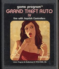 Modern Day Video Games as ATARIClassics  GTA IV Grand Theft Auto 4, Grand Theft Auto Series, Retro Video Games, Video Game Art, V Games, Arcade Games, Gta, Board Game Design, Modernisme