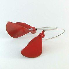 Jess Dare powder coated brass earrings