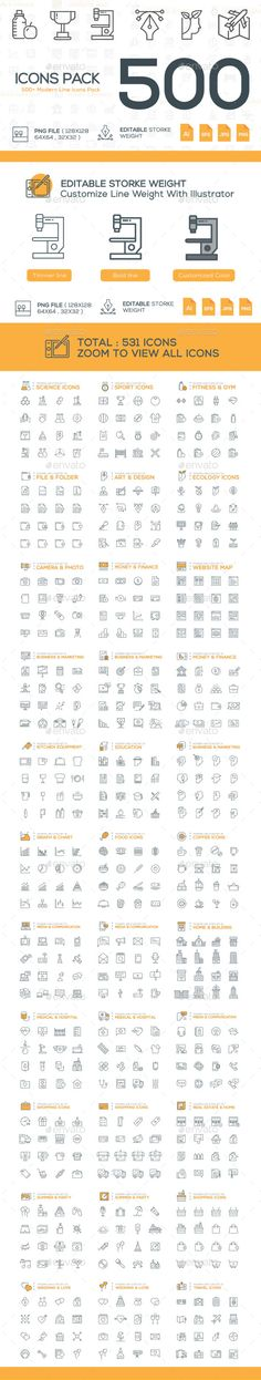 531 Modern Line Icons #design Download: http://graphicriver.net/item/540-modern-line-icons/12700656?ref=iconutopia