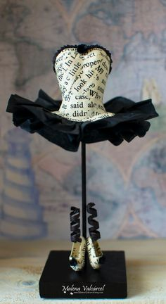 Ballerina Miniature Paper Dress and shoes by MalenaValcarcel