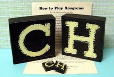 Play with Anagrams - printable letters via Just Something I Made aka Cathe Holden