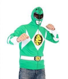 Power Rangers I Am Green Ranger Adult Full Zip Costume Hoodie Adult Small *** You can get additional details at the image link-affiliate link. Hulk Hogan Halloween Costume, Power Rangers Halloween Costume, Pop Culture Halloween Costume, Star Wars Halloween Costumes, Green Power Ranger Costume, Family Costumes, Baby Costumes, Group Costumes, Couple Costumes