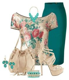 Breathtaking Floral Outfit Ideas for All Seasons 2018 - The Best Floral Outfits Classy Outfits, Chic Outfits, Beautiful Outfits, Floral Outfits, Beautiful Things, Beach Outfits, Work Fashion, Fashion Looks, Spring Fashion