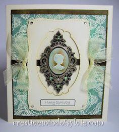 cameo card and frame madey by sylvie