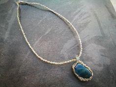 Necklace by Manufaktura Leo Leather Working, Leo, Jewelry Making, Pendant Necklace, Handmade, Fashion, Moda, Hand Made, Fashion Styles