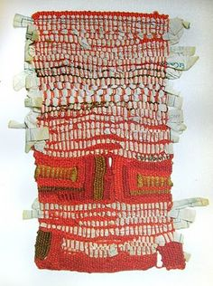 Sheila Hicks ____ (Photo Courtesy, Weaving as Metaphor, via Textile Arts Center blog)